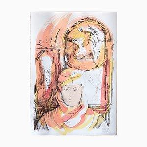 Capricorn - Original Hand-Colored Lithograph by A. Quarto - 1985 1985