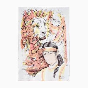Leo - Original Hand-Colored Lithographie von A. Quarto - 1985 1985