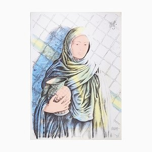 Water Carrier - Original Hand-Colored Lithograph by A. Quarto - 1980s 1980s