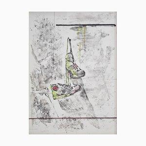Tennisschuhe - Original Lithografie von Piero Mosti - 1980er 1980er