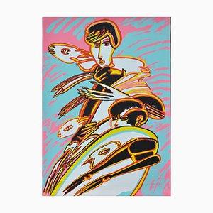 Pastorale - Original Siebdruck von Remo Brindisi - 1980er 1980er