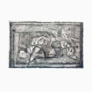Lying Figures - Original Etching by E. Brunori - 1965 1965