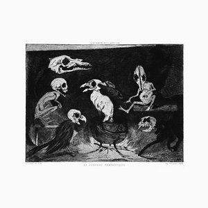 Escultura original Le Concert Fantastique & Aguatinta de JE Cuisinier - 1877 1877