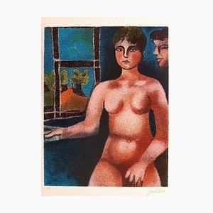 Luisa und Ippolito - Original Lithographie von Franco Gentilini - 1980 1980