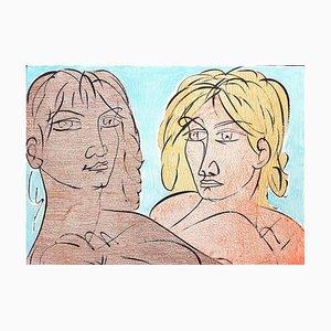 Paolo und Francesca - Original Lithographie von T. Zancanaro - 1981 1981
