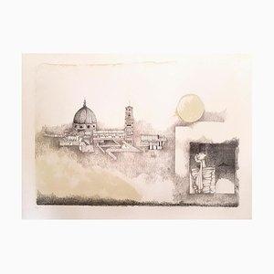 Florence - Original Lithograph by Ossi Czinner - 1970s 1970s