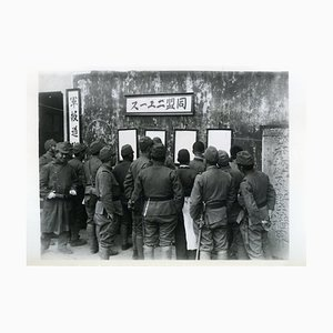 Japanese Troops Read Dispatches - Vintage Photo 1938 1938