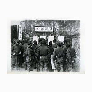 Japanische Truppenkonvalle lesen - Vintage Photo 1938 1938