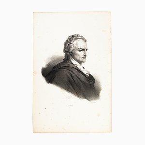 Lithographie Alfieri Original par H. Grevedon - 1826 1826