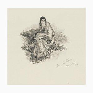 Une Femme - Original Lithographie von Georges Gobo 1940er