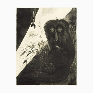 Owl - Original Etching by Leo Guida - 1972 1972