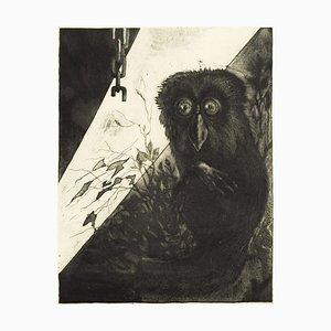 Owl - Original Radierung von Leo Guida - 1972 1972
