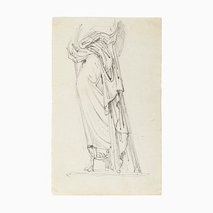 Veiled Woman - Original Pencil Drawing - Late 19th Century Late 19th Century