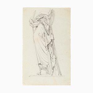 Verschleierte Frau - Original Bleistiftzeichnung - Spätes 19. Jahrhundert Spätes 19. Jh