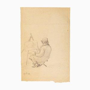 The Painter - Original Bleistiftzeichnung - 1890 1890