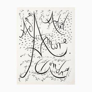 Lithographie Originale par Raphael Alberti - 1972