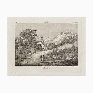 Arpino - Original Radierung von Alessandro Moschetti - 1843 1843