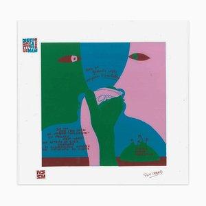 Arcobaleno - Diecicomeleditadiduemani - Siebdruck auf Azetat von E. Puchard 1973