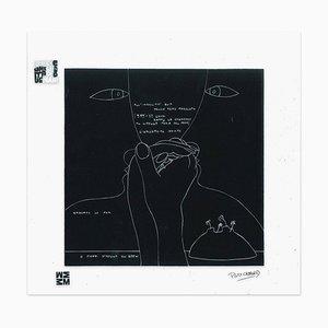 Gli Occhi - Screen Print on Acetate by E. Pouchard - 1973 1973