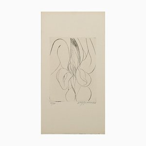Iris - Original Radierung von W. Buchholz - 1966 1966