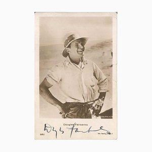Photo-postcard with Portrait and Autograph by Douglas Fairbanks - 1930 ca. 1930 ca.