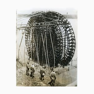 Giant hydro-pump in Hainan - Vintage Photo 1939 1939
