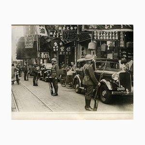 Soldats à Shanghai pendant l'occupation - Photo Vintage 1939 1939