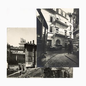 Via Alessandrina - Disappeared Rome - Two Vintage Photos Early 20th Century Early 20th Century