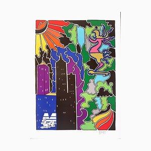 Composition - Original Lithographie von Antonio Cremonese - 1980er 1980s