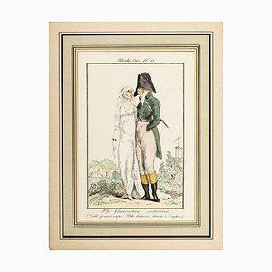 La Conversation Mistèrieuse - From Modes et Manières du jour à Paris... Early 19th Century