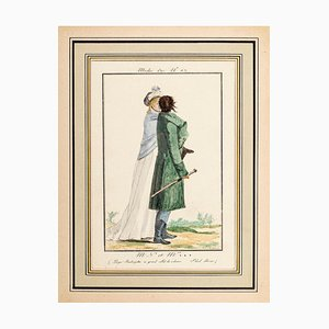 MN et Mme *** - From Modes et Manières du jour à Paris ... Frühes 19. Jahrhundert