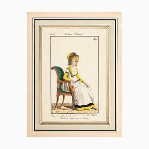 Costume Parisien - Model n. 48 - From Modes et Manières du jour à Paris... Early 19th Century