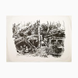 Illusionen - Black and White Lithograph by Peter Stephen - 1970s 290