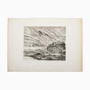Alluvions - Original Etching and Drypoint on Paper - 1980s 1980s