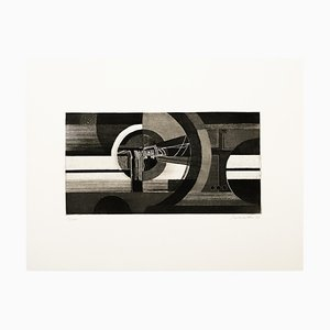 Abstract Composition - Original Radierung und Aquatinta von J. Birkholzer - 1970 1970