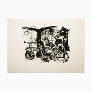 Bicycles - Original Lithograph - 1970s 1970s