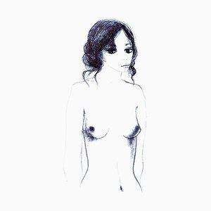Nude - 6 - Original Lithograph by Carlo Marcantonio - 1970 1970