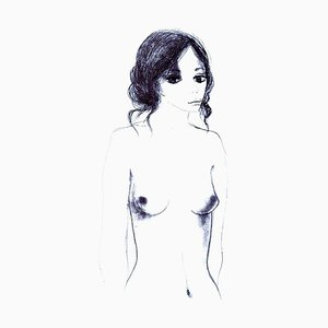 Nude - 6 - Original Lithographie von Carlo Marcantonio - 1970 1970