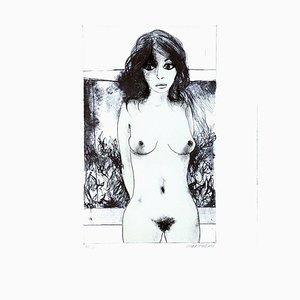 Nude - 7 - Original Lithograph by Carlo Marcantonio - 1970 1970
