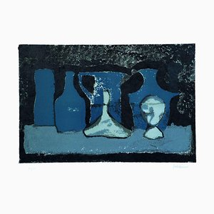 Pots in the Shade - Original Lithograph by Guido Mirimao - 1970 ca. 1970