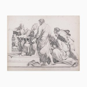 Biblia Epistolae - Original Lithograph by French Master 19th Century 19th Century