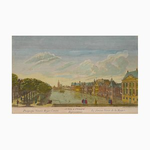 The Hague - Le fameux Vivier de la Haye - Radierung von French Master 1700 18. Jahrhundert