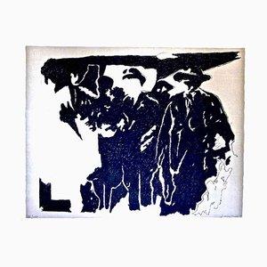 Pioneers - Original Lithografie von Pino Reggiani - 1970er 1970er