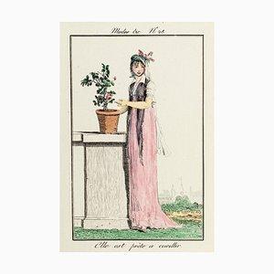 Elle Est Prête - From Modes et Manières du jour à Paris à la fin du 18e siècle.. Early 19th Century