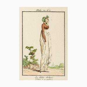 The Torn Dress - From Modes et Manières du jour à Paris à la fin du 18e siècle.. Early 19th Century