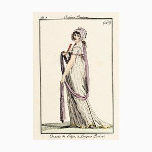 Cornette de Crêpe, à Longues Poi - Original Etching 1799 1797