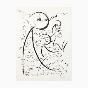 Letra R - Litografía original de Raphael Alberti - 1972 1972