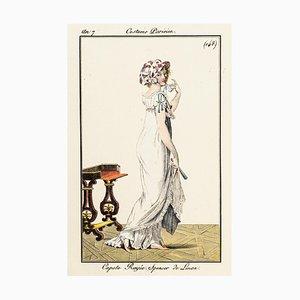 Capote Rayée. Spencer de Linon - Original Etching 1799 1799