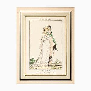 Elle le boude - From Modes et Manières du jour à Paris... Early 19th Century