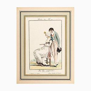 Que lui conte-t-il? - From Modes et Manières du jour à Paris ... Frühes 19. Jahrhundert